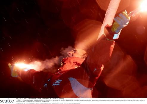 "2012/13 VENDEE GLOBE.Bertrand de Broc (FRA) ""VNAM, aver EDM Projets"""